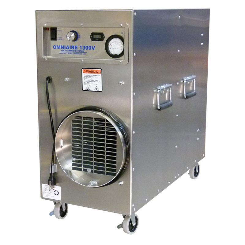 OA1300V, OmniAire 1300V, HEPA Negative air machine, portable air scrubber, confined space air filtration